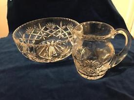 Edinburgh Crystal Bowl and Jug