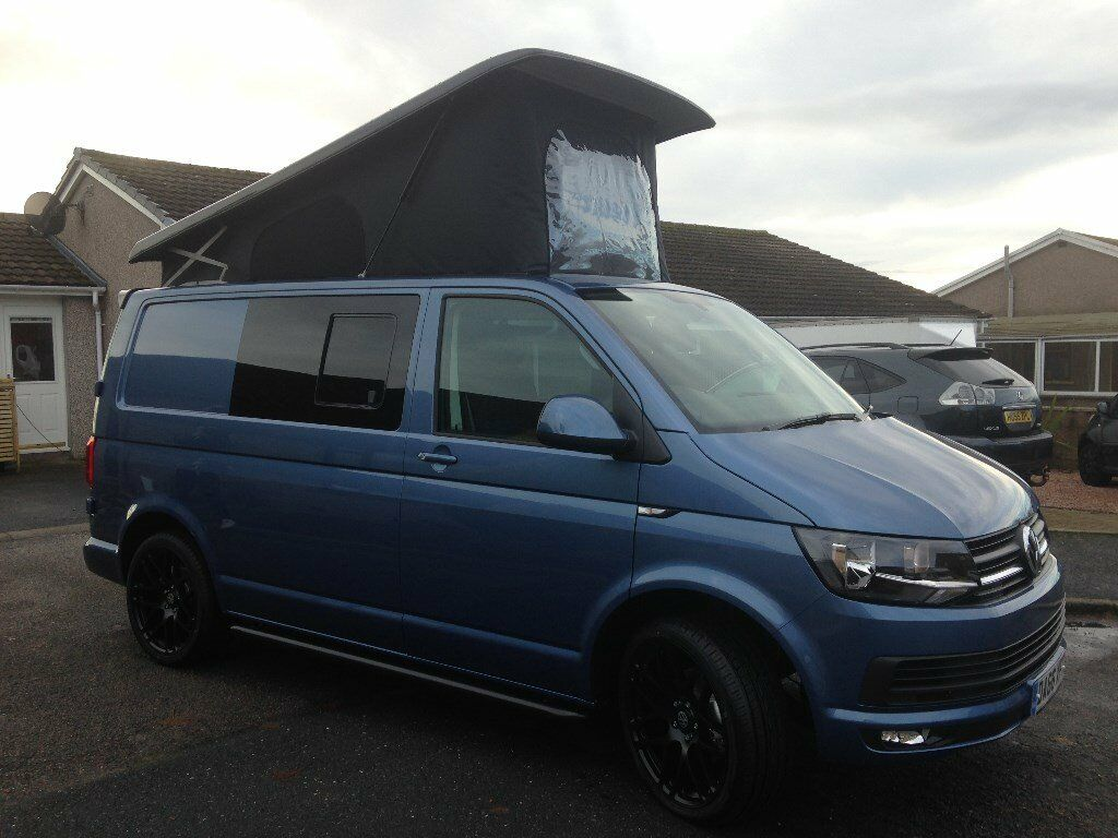 new t6 vw transporter t28 highline pop top camper in. Black Bedroom Furniture Sets. Home Design Ideas