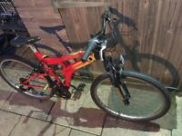 Full Suspension Mountain Bike. Serviced, Free Lock, Lights, Delivery