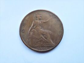 1898 - Queen Victoria - One Penny Veiled Head