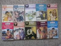 10 Mills & Boon romance novels, including Duelling Fire by Anne Mather