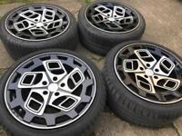 "18"" genuine Radi8 alloy wheels with tyres 5x112"