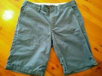 Men's blue chino shorts, size 32, as new
