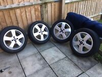 4 alloy wheels and tyres
