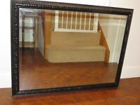 Solid large Black framed mirror