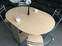 Foldable Dining Table & 4 Chairs