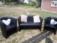 Sofa and chairs good condition few nicks at the bottom at the back