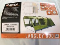 Brand new Langley 600 tent sleeps six used once