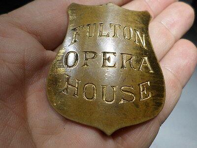 Fulton Opera House Security Badge Usher Theater Prop Lancaster Pa