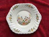 Beautiful Fine Bone China Cheese Plate : Aynsley Cottage Garden PRICE REDUCTION