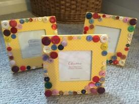 3 x Handmade Button Frames