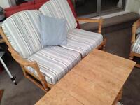 3 piece Ercol suite with matching coffee table