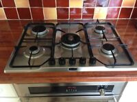 5 Ring Gas Hob and Extractor Fan both in excellent very clean condition