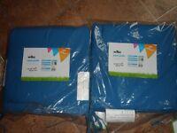 BNWT 4 x blue Wilko seat pads