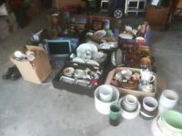 Car Boot items for sale. See photo's covering items from a large Rug, Pottery, Vases, Bags, Cases ++