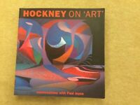 """Hockney on """"Art"""" collectable book"""
