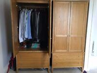 2 wardrobes