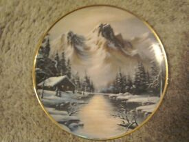 **Franklin Mint Colectors Plate Peaeful Solitude 1992**