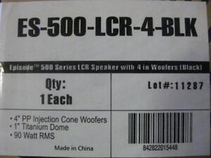 Episode 500 Series LCR Book Shelf Speaker. Slim Design. Compact. Accurate Bass. Versatile. Clear Dynamic Sound Audio NEW