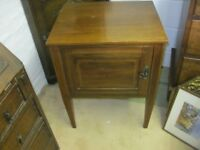 VINTAGE ORNATE VERSATILE 'POT' CABINET. INLAID BORDER DESIGN. VIEWING/DELIVERY AVAILABLE