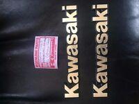 KAWASAKI NOS TANK BADGES. 1980's.