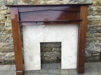 Original 1930's fire surround, marble inset and hearth