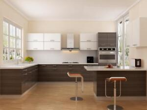 SOLID WOOD KITCHEN CABINETS WITH 0% FINANCING! DON'T PAY FOR 1 YEAR INTEREST FREE!!!