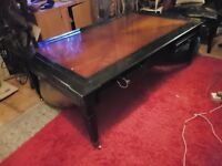Large black and mahogany lacquered Coffee Table