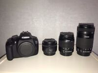 Canon EOS 1200D PLUS 18-55 f/3.5-5.6 III, 50 f/1.8 STM, 55-250 f/4-5.6 STM
