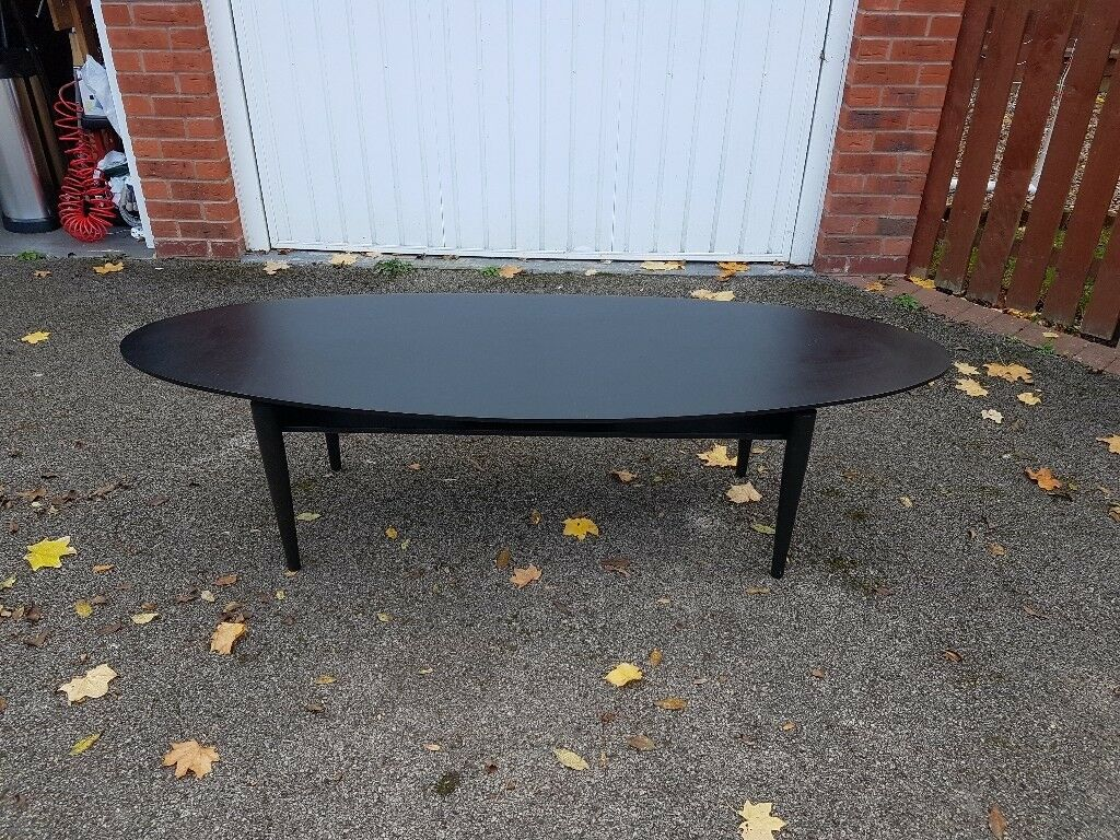 Large Oval Ikea Black Coffee Table Free Delivery 818 In Leicester Leicestershire Gumtree