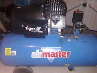 Airmaster Tiger 16/1010 3hp 100 Litre Air Compressor
