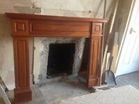 Fire surround solid mahogany