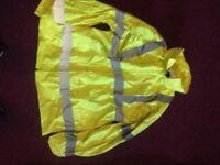 Hi-Vis Waterproof Jacket, trousers and bag cover