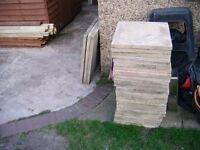 outdoor buff paving slabs