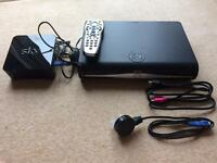 Sky+ HD Box & Sky Hub with cables