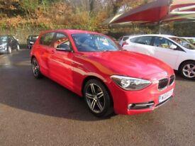 BMW 1 SERIES 116D SPORT (red) 2014