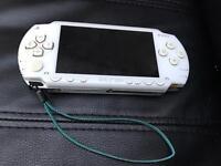 Psp white 1000 original - games charger memory card