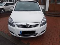 Vauxhall Zafira Exclusive 1.8 White FSH