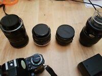 AE1 camera and A1 camera retro