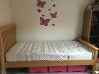 Pink underbed storage suitable for single bed