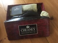 Cheaney handmade Men's classic Oxford Cap toe Shoe in Black, 8.5F