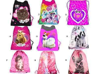 My Little Pony Taschen (Turnbeutel Sporttasche My little Pony Barbie Hund Katze Pferd Pets Eule Kinder)