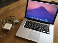 MacBook Pro; 15 Inch; 250 GB storage; 4GB Ram; 2.53 Ghz Intel Core duo