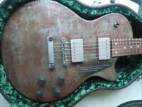 James Trussart Rusty Steel-Deville, Holy back 2003. Factory fitted Tom Holmes USA pickups. OHSC.