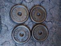 4x 2.5kg York cast iron standard plates (10kg total)