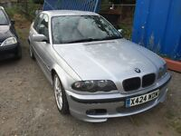 BMW 3 series e46 silver 2.5 manual breaking for parts / spares