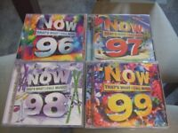 REDUCED - NOW THAT'S WHAT I CALL MUSIC 96, 97, 98 & 99 - A1 condition - used once only