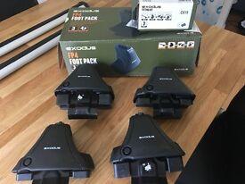 Exodus Aero Roof Bars A120, Exodus Foot Pack FP4, Exodus Fitting Kit
