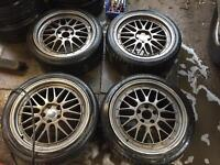 "18"" BBS LMS STYLE ALLOY WHEELS ASTRA VECTRA ZAFIRA FOCUS MONDEO GALAXY JAGUAR SET OF 4 WITH TYRES"