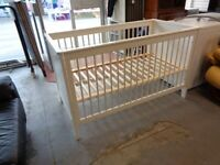 Mamas & Papas 2 Height White Cot Bed